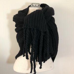 Free People blanket scarf wrap shawl Jaden Black